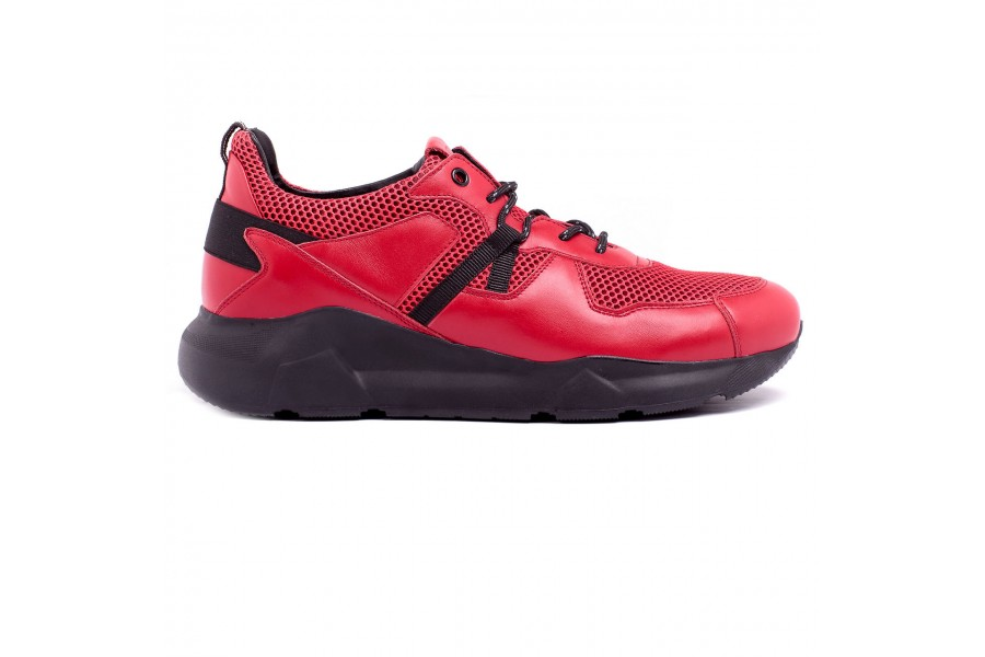 Męskie buty czerwone